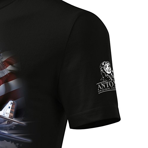 T-Shirt mit dem Flugzeug P-51 MUSTANG