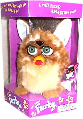 Furby - Electronic - Brown Body & Feet, Tan Chest/Belly, White Inner Ears by Tiger Electronics, LTD.