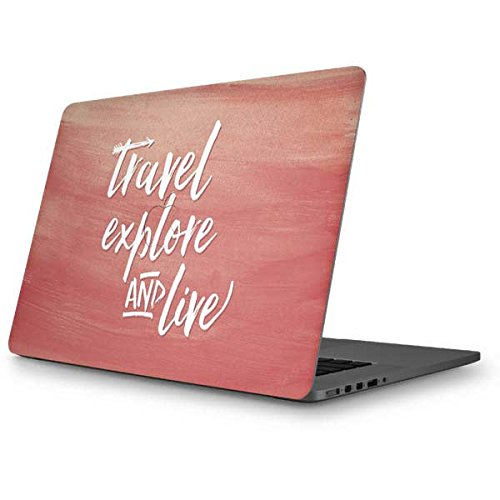 Skinit Illustration Art MacBook Pro 15 (2012-15 Retina Display) Skin - Travel Explore and Live Design - Ultra Thin, Lightweight Vinyl Decal Protection