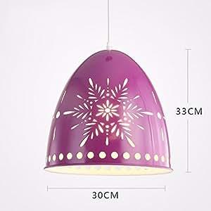 XHOPOS HOME Pendant Light Shade Industrial Hanging Ceiling Lamp Chandelier Purple 30Cm 15w LED For Living Room Restaurant Bedroom Lighting