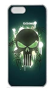 iPhone 5 5S Case Skull 02 PC Custom iPhone 5 5S Case Cover Transparent