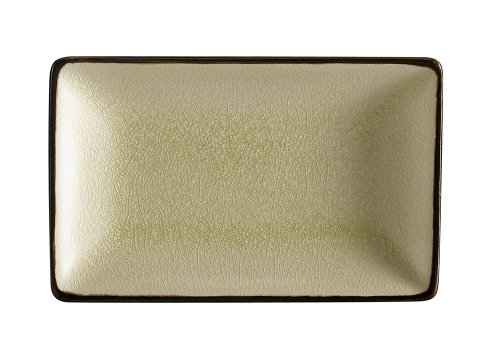 CAC China 666-33-W Japanese Style 5-Inch by 3-1/2-Inch Creamy White Rectangular Platter, Box of 36