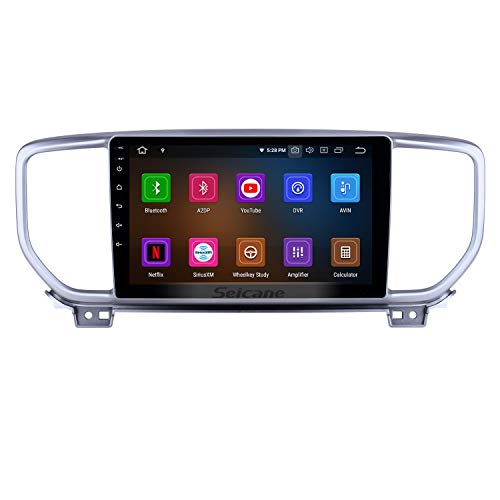 Android 9.0 9 inch GPS Navigation Radio for Kia Sportage R 2018-2019 with HD Touchscreen Carplay Bluetooth WiFi USB AUX (8-Core, 4G+32G (Best Chinese Double Din Head Unit 2019)