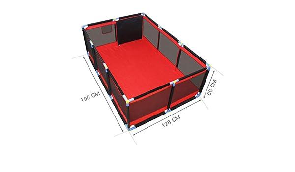 HYE-PLAYPEN Corralitos para bebés Valla para niños pequeños Juegos Infantiles Valla de Seguridad para niños corralito portátil para el hogar con tapete para Gatear, Rojo (190x128x66cm): Amazon.es: Hogar