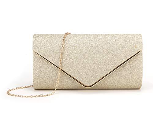 Evening Gold Clutch - Nodykka Clutch Purses For Women Evening Bags Sparkling Shoulder Envelope Party Cross Body Handbags