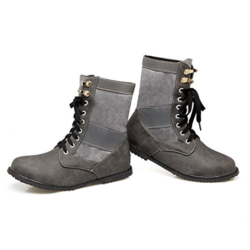 Women Up Lace Boots Gray 80 COOLCEPT adqtd