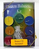 Chakra Balancing Kit with Seven Scented Tea Lights and Seven Gemstones along with a mantra for each Chakra and a Chakra Balancing CD as a Bonus