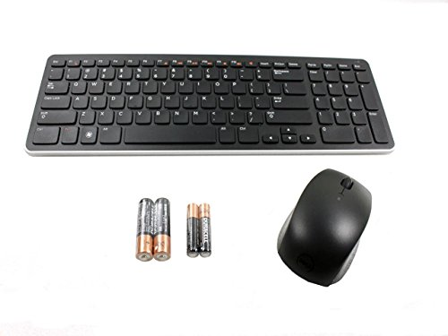 Dell Cordless Mouse - Dell R27FJ Black With Silver Trim QWERTY Keyboard With Optical LED Tracking Sensor Black Wireless Mouse 0R27FJ 0J2PRN CN-0R27FJ CN-0J2PRN KM713 0KM713