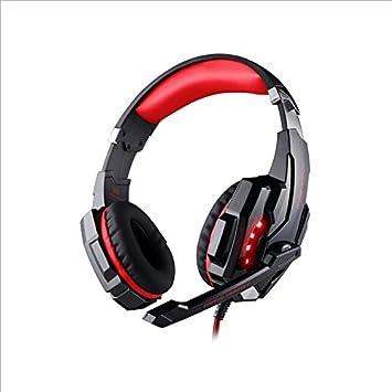 FHCG Auriculares con Cable Auriculares Auriculares de Ordenador Portátil General Juego Juego,Negro Rojo: Amazon.es: Electrónica