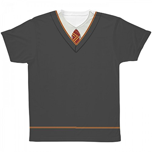 Red Wizard Uniform Costume: All Over Printing Unisex SubliVie (Hogwarts Uniform Costume)