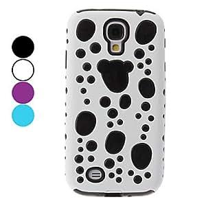 White Base Bubble Design Hard Case for Samsung Galaxy S4 I9500 --- COLOR:White