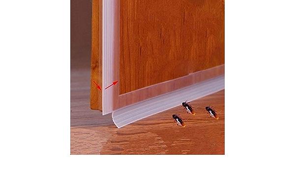 Tiras Sellado Resistentes a la Intemperie Ya Prueba Insectos Tira Ellado Silicona 100 * 5 cm, Blanco