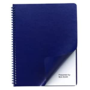 Swingline GBC Regency Premium Presentation Covers, Round Corners, Navy, 50 Pack (2001711P)