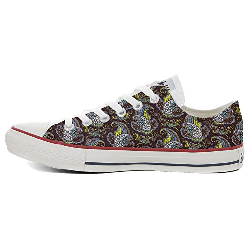 Converse All Star Slim personalisierte Schuhe (Custom Produkt) Brown Paisley 3UxHOW