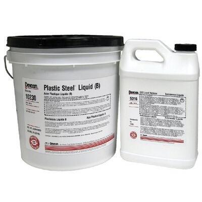 Devcon 10230 230 Dark Grey Plastic Steel Liquid, 400 fl. oz.