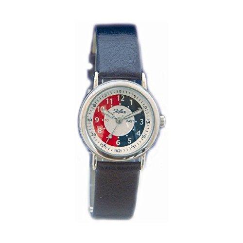 Reflex - Reloj infantil para aprender la hora, con correa color azul marino: Amazon.es: Relojes