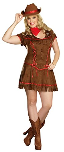 Cowgirl Costumes Adults (Dreamgirl Giddy Up Costume, Brown, X-Large)