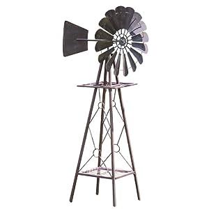 Amazon Com Red Carpet Studios Rustic Metal Windmill