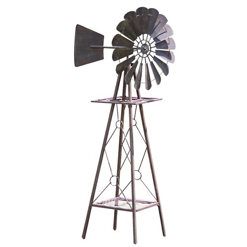 Nice Amazon.com : Red Carpet Studios Rustic Metal Windmill, Small : Garden U0026  Outdoor