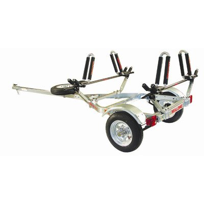 MPG461G2 Malone Auto Racks MicroSport Trailer Kayak Transport with 2 J-Pro2 Kayak Carriers