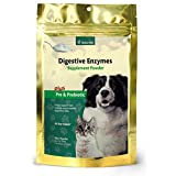 NaturVet Digestive Enzymes Plus Probiotic for Dogs and Cats, 10- oz Powder, Made in USA