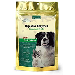 NaturVet – Digestive Enzymes – Plus Probiotics & Prebiotics – Helps Support Diet Change & A Healthy Digestive Tract – for Dogs & Cats – 10 oz Powder