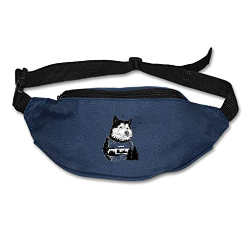 Fitch Forster Wolf-for-Your-Wildlife Waist Pack - Standard, Black,Blue, One Size