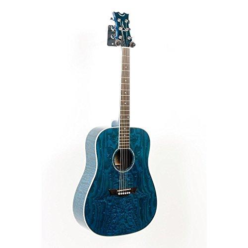 Dean AXS Dreadnought Quilt Acoustic Guitar Level 2 Transparent Blue 888365394176 (Dean Ax Dqa Acoustic Guitar)