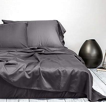 Sachi Home 500 Hilos 100% satén de algodón Juego de sábanas (1 sábana Bajera, 1 sábana Bajera y 2 Fundas de Almohada): Amazon.es: Hogar