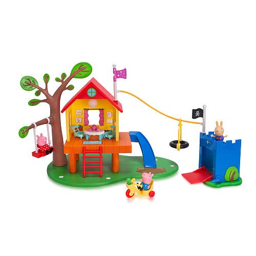 Nick Jr Peppa Pigs Treehouse and Georges Fort Playset