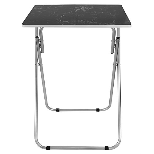 Home Basics Multi-Purpose Sturdy and Durable Decorative Bedside Laptop Snack Cocktails TV Folding Table Tray Desk Bedside Laptop Snacks Black Marble by Home Basics (Image #3)'