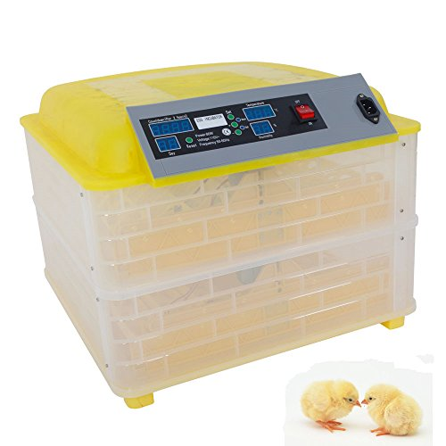 Z ZTDM 96 Eggs Digital Incubator Hatcher Automatic Egg Turning Temperature ControlDigital Mini Fully Automatic Egg Incubator Poultry Hatcher for Chickens Ducks Birds (96 Eggs)