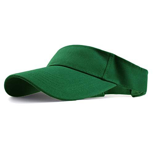- HH HOFNEN Sports Sun Visor Hats Twill Cotton Ball Caps for Men Women Adults Kids (#2 Green)