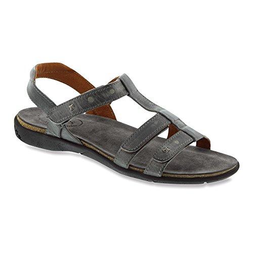 Taos Footwear Women's Enchanted T Strap Sandal,Graphite Leather,EU 38 M by Taos