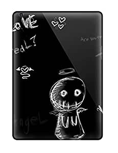 Snap-on Artistic Cute Emo Normal Case Cover Skin Compatible With Ipad Air