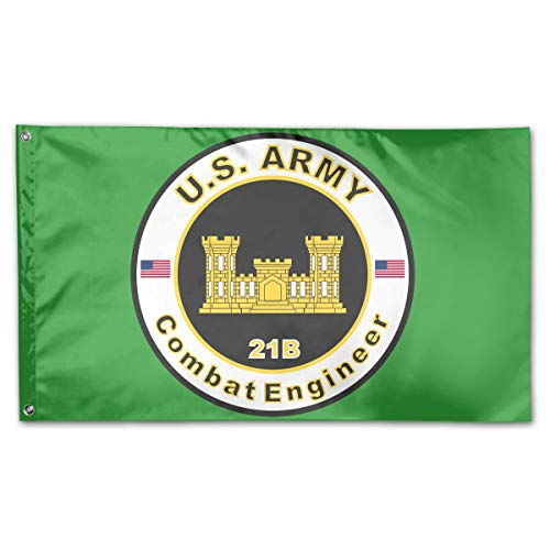 Army MOS 21B Combat Engineer Home Flags 3 X 5 in Indoor&Outdoor Decorative Home Fall Flags Holiday Decor ()