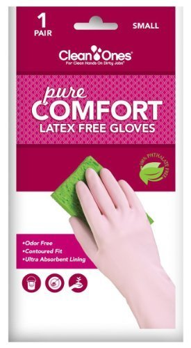 Clean Ones Pure Comfort Latex Free Vinyl Gloves - Small 6pr (Latex Free Gloves Extra Small compare prices)