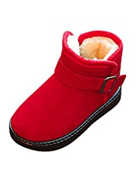 Aritone - Shoes Kids Winter Warm Snow Boots,Boys Girls Anti-Slip Thick Plus Velvet Martin Ankle Boots Sneakers Students