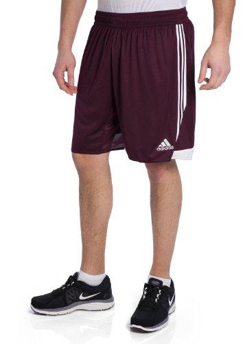 Adidas Men's Tiro 13 Short, Light Maroon/White, Small