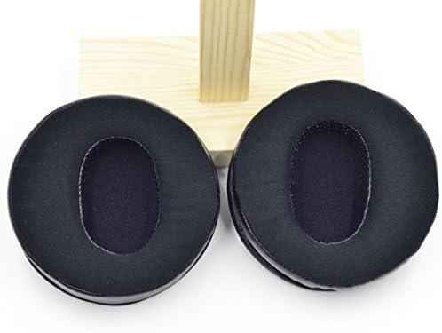 交換用100mm角度Genuineレザー&ベロア耳パッドクッション交換パーツ4インチ