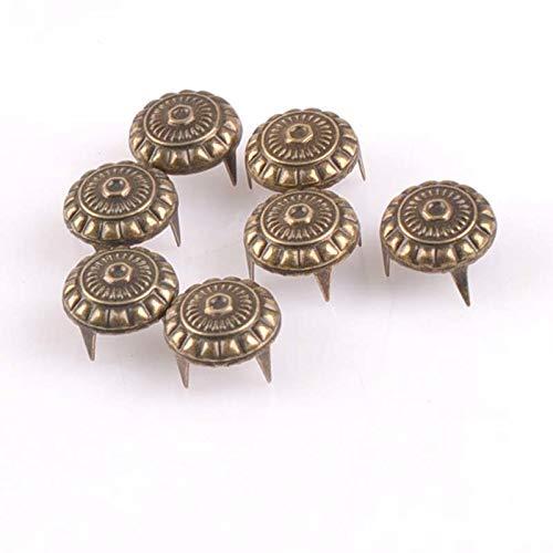 Garment Rivet - 100PCs Bronze Four Brads Scrapbooking Embellishment Fastener Brads Metal Crafts for Shoes Decoration CP1917