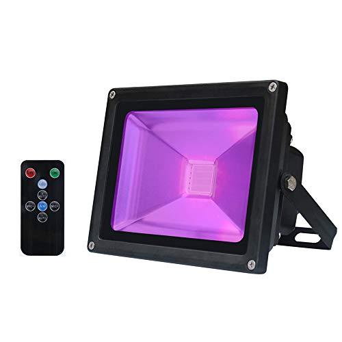 - ETbotu LED Flash Light Violet Stage Decorative Light with Remote Control Flood Light Waterproof for Indoor Outdoor Holiday Celebrations 30W 85V - 265V European Regulations