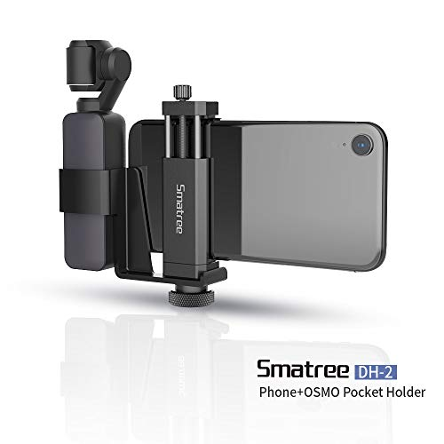"""Smatree OSMO Pocket Phone Holder Set Expansion Accessories with 1/4""""Thread Screw Compatible with DJI OSMO Pocket 2/ DJI OSMO Pocket and Smartphone"""