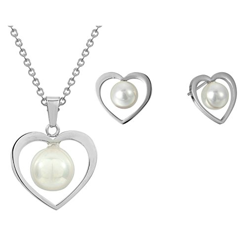 Women 925 Silver Plated Hollow Heart Pendant Necklace + Bracelet + Earrings Jewelry Set - 5