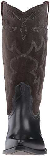 Frye Women's Shane Embroidered Tall Western Boot Charcoal EwXR1f
