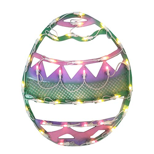 """Northlight 15.75"""" Lighted Pastel Colored Easter Egg Spring Window Silhouette"""