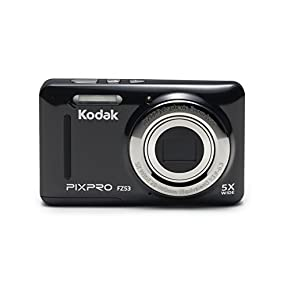 Kodak PIXPRO Friendly Zoom FZ53-BK 16MP Digital Camera with 5X Optical Zoom and 2.7