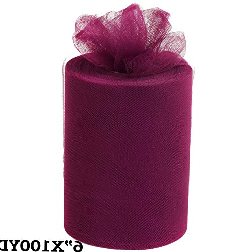 Mikash 6 x 300 feet Wedding Tulle Fabric Roll Crafts DIY Favors Pew Bows Decorations | Model WDDNGDCRTN - 15119 | ()