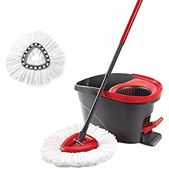 O-Cedar Easy Wring Spin Mop System with 1 Extra Refill