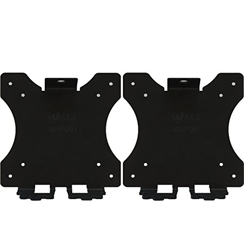 WALI WL- VHP001-2 VESA Mount Adapter Bracket for HP Pavilion Monitors, 27xw, 25xw, 24xw, 23xw, 22xw, 22cwa, 27cw, 25cw, 24cw, 23cw, and 22cw, 2 Pack, Black